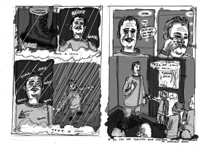 Illustration example from rain