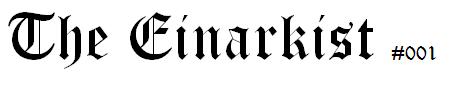 The Einarkist - Header for issue 001